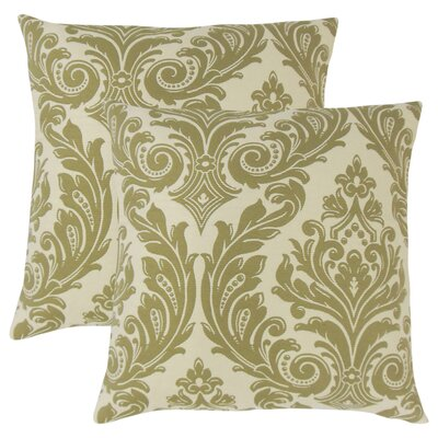 Deweese Damask Throw Pillow Color: Celery