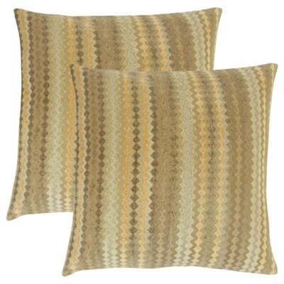 Jenny Geometric Throw Pillow Color: Fawn