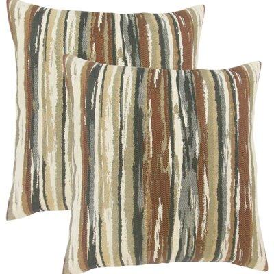 Jordynn Stripes Throw Pillow Color: Brown