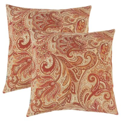 Overshores Paisley Throw Pillow Color: Bittersweet