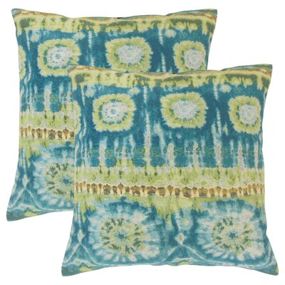 Deonte Ikat Throw Pillow Color: Lagoon