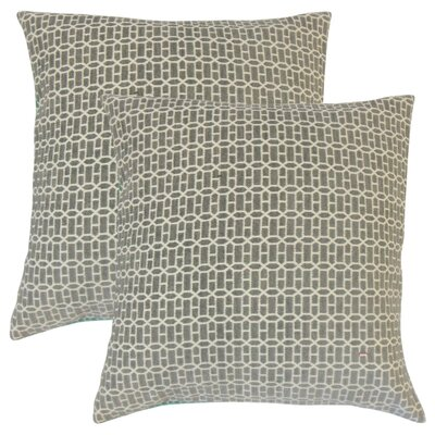 Yemanja Geometric Throw Pillow Color: Gray
