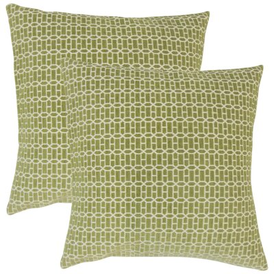Yemanja Geometric Throw Pillow Color: Kiwi