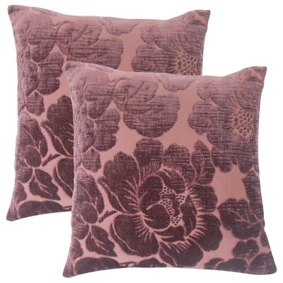 Fausta Floral Throw Pillow Color: Violet