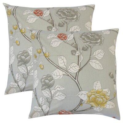 Gualtiero Floral Cotton Throw Pillow Color: Dove
