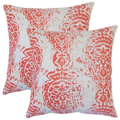 Zaanstad Ikat Cotton Throw Pillow