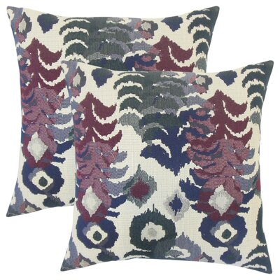 Summerlin Ikat Throw Pillow Color: Purple