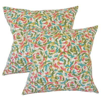 Summy Graphic Cotton Throw Pillow