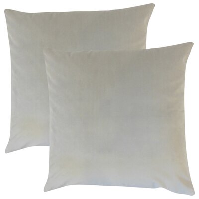 Theriault Solid Cotton Throw Pillow Color: Smoke