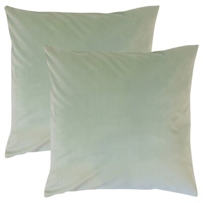 Theriault Solid Cotton Throw Pillow Color: Spa
