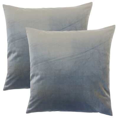 Image of Theriault Solid Cotton Throw Pillow Color: Steel