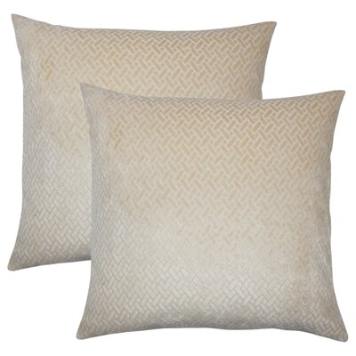 Stradford Solid Throw Pillow Color: Tan