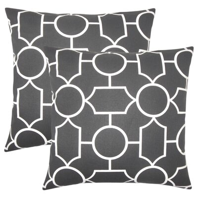 Syrianus Geometric Cotton Throw Pillow Color: Ebony