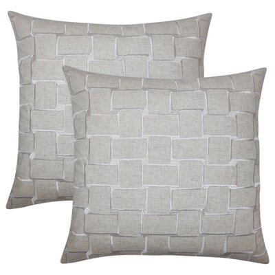 Quackenbush Geometric Throw Pillow Color: Tan
