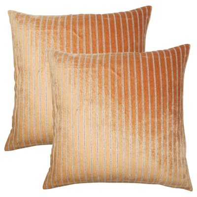 Brecken Striped Throw Pillow Color: Melon