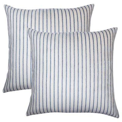 Brecken Striped Throw Pillow Color: Blue