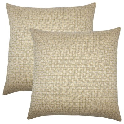Quintanar Geometric Throw Pillow Color: Bamboo