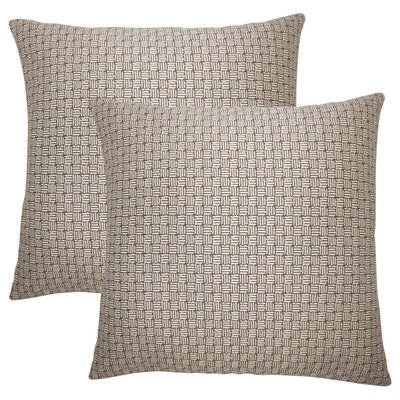 Quintanar Geometric Throw Pillow Color: Brown