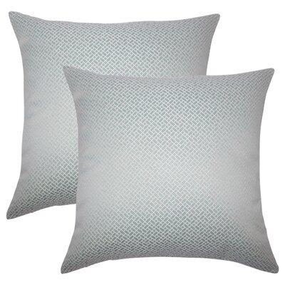 Reeser Geometric Throw Pillow Color: Aqua