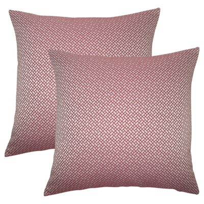 Reeser Geometric Throw Pillow Color: Berry