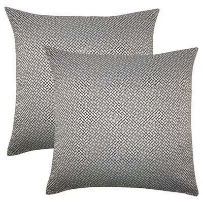 Reeser Geometric Throw Pillow Color: Black