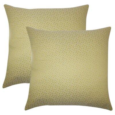 Reeser Geometric Throw Pillow Color: Peridot