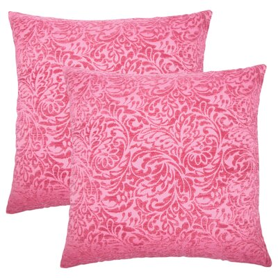 Winans Damask Throw Pillow Color: Azalea