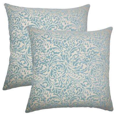 Winans Damask Throw Pillow Color: Turquoise