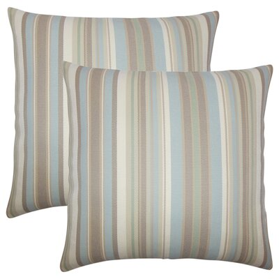 Henderson Striped Throw Pillow Color: Tan
