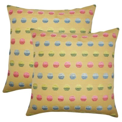Anthem Polka Dots Throw Pillow Color: Gold