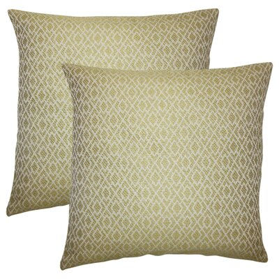 Talevi Geometric Throw Pillow Color: Peridot