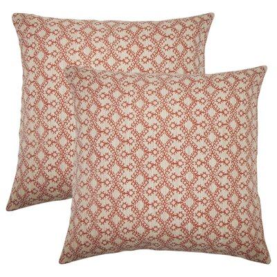 Dreier Ikat Throw Pillow Color: Cinnamon