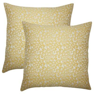 Battista Floral Throw Pillow Color: Buttercup