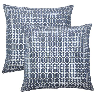 Wychwood Geometric Throw Pillow Color: Lapis
