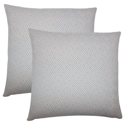 Wyckhoff Geometric Cotton Throw Pillow Color: Linen