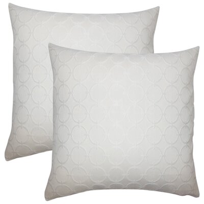 Stricklin Geometric Cotton Throw Pillow Color: White