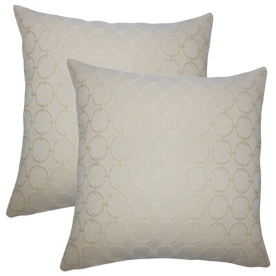 Stricklin Geometric Cotton Throw Pillow Color: Sisal