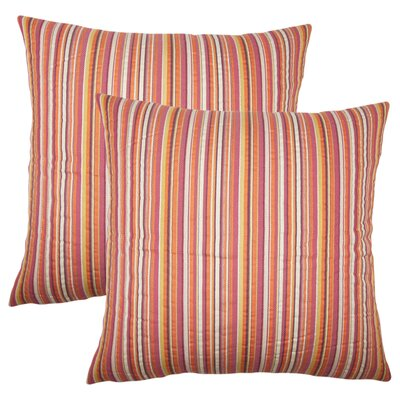 Filomena Striped Cotton Throw Pillow