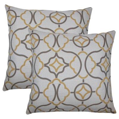Stringfield Geometric Cotton Throw Pillow Color: Sandstone