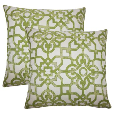 Hammer Geometric Throw Pillow Color: Green