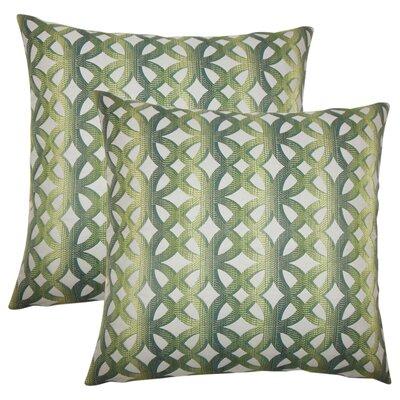 Strohm Geometric Throw Pillow Color: Jade