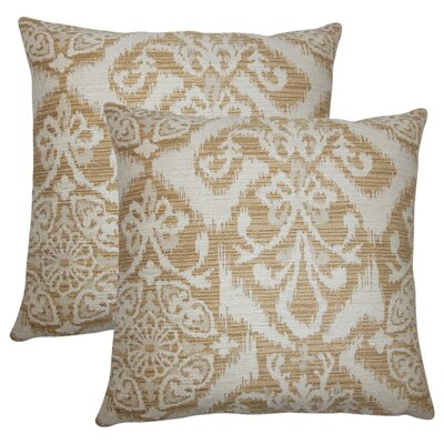 Ashly Ikat Throw Pillow Color: Sandstone