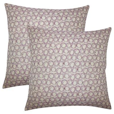 Zech Geometric Throw Pillow Color: Plum