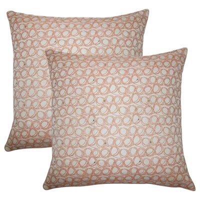 Zech Geometric Throw Pillow Color: Tangerine