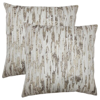 Midwest City Graphic Throw Pillow Color: Alabaster