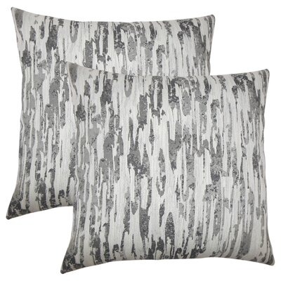 Midwest City Graphic Throw Pillow Color: Birch