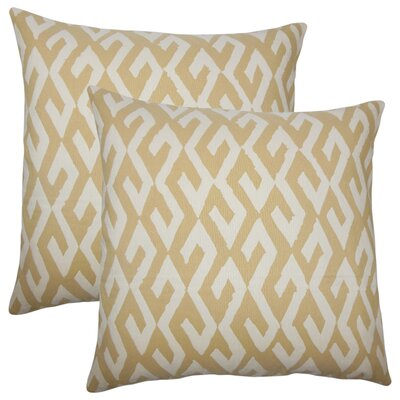 Zyana Geometric Cotton Throw Pillow
