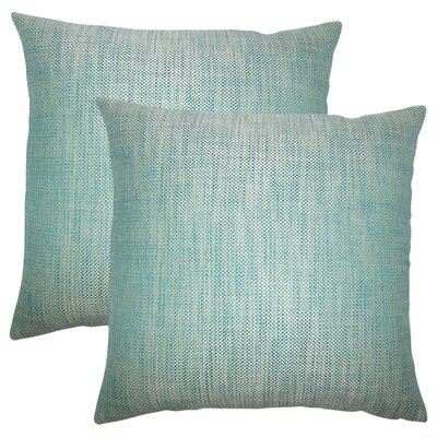 Tiffany Weave Cotton Throw Pillow Color: Peacock