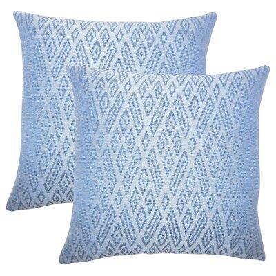 Zakary Ikat Cotton Throw Pillow Color: Lapis