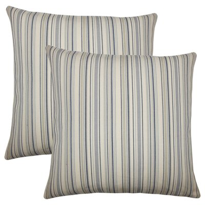 Torington Striped Cotton Throw Pillow Color: Dusk